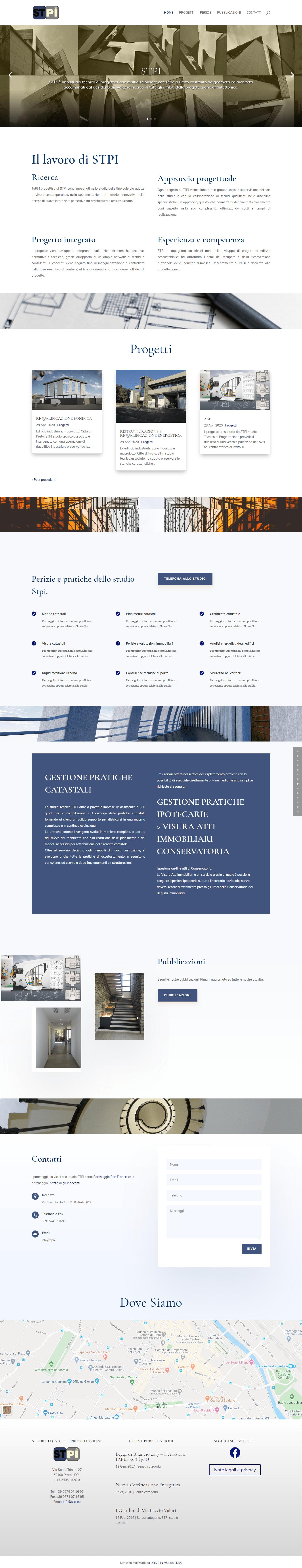 restyling-e-realizzazione-siti-web. Restyling grafico e strutturale di STPI. Realizzazione siti web per liberi professionisti