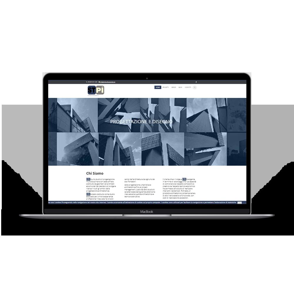 immagine portfolio web del sito stpi, logo html5, realizzazione siti web Firenze.