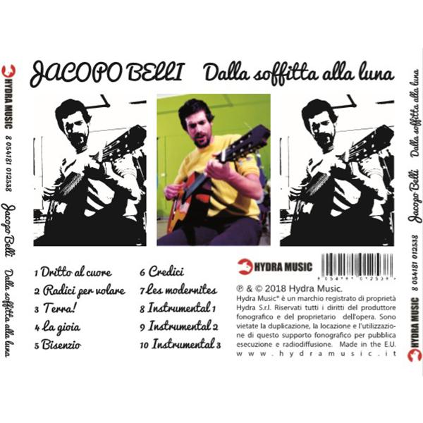 Realizzazione grafica cd inlay. Realizzazione del progetto grafico del cd-inlay di Jacopo Belli uscito per Hydra music records