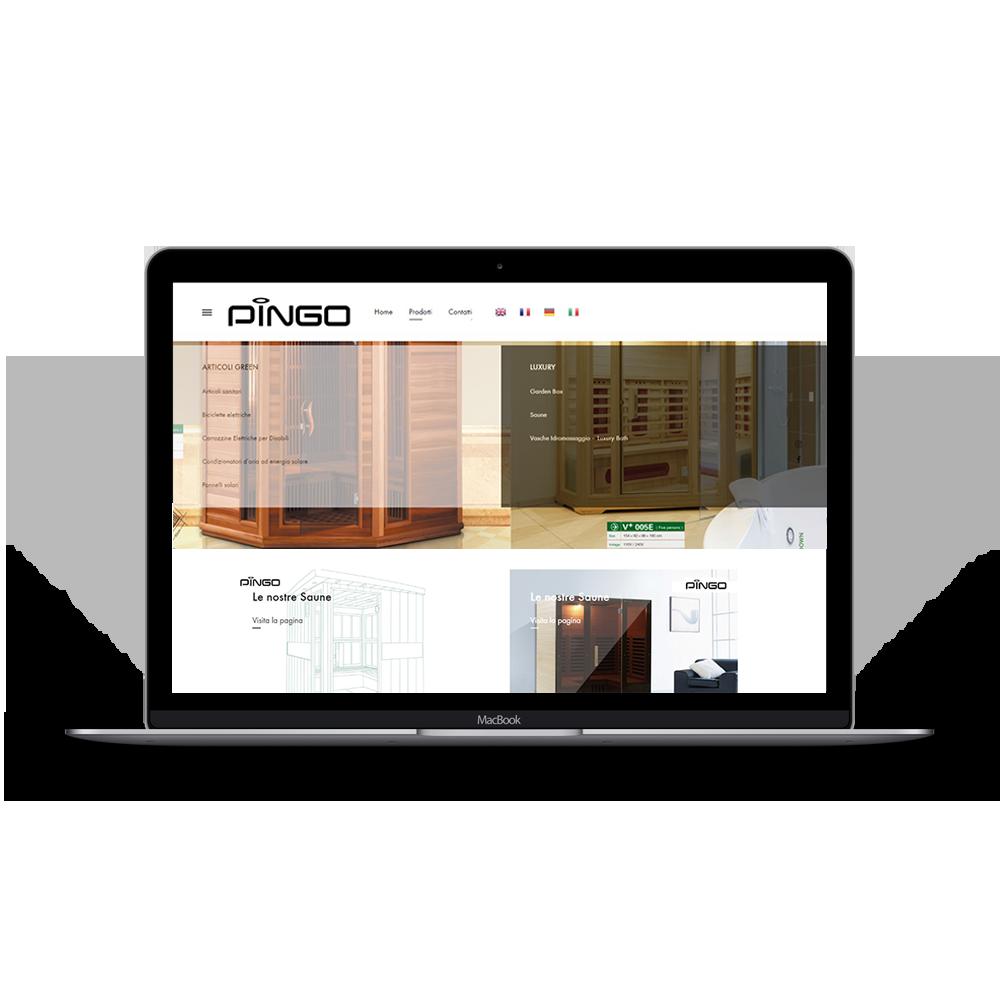 realizzazione sito web responsive pingomove.it, sito vetrina per azienda specializzata in prodotti green che rispettano l'ambiente